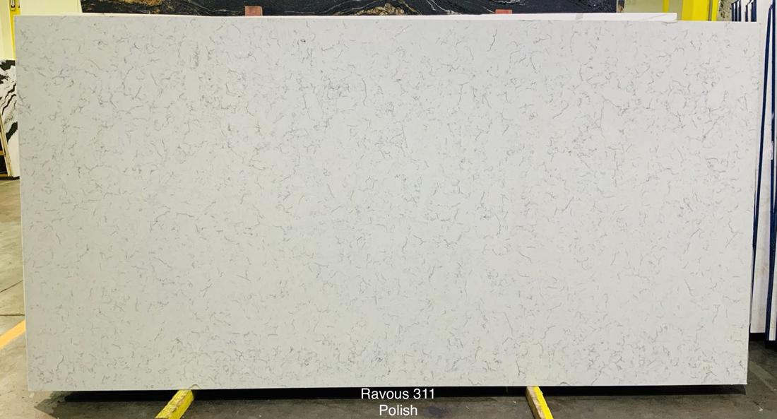 Ravous White Quartz Slabs Polished Artificial Stone Slabs