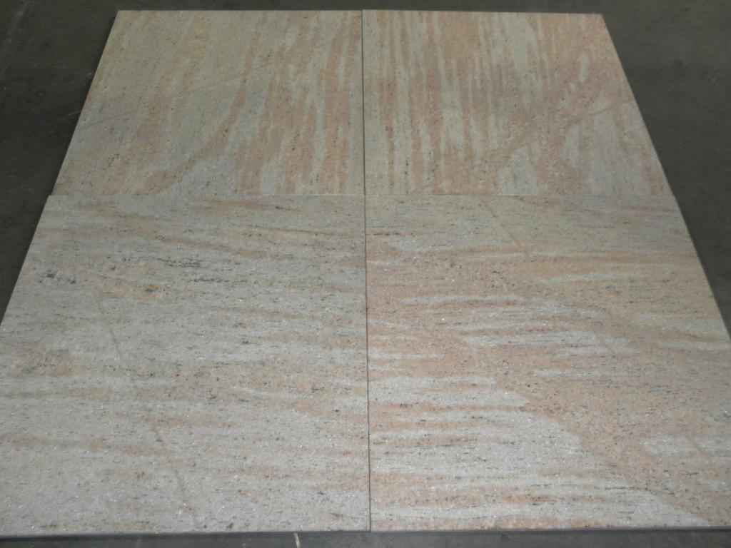 Raw Silk Granite Tiles Indian Pink Polished Granite Tiles
