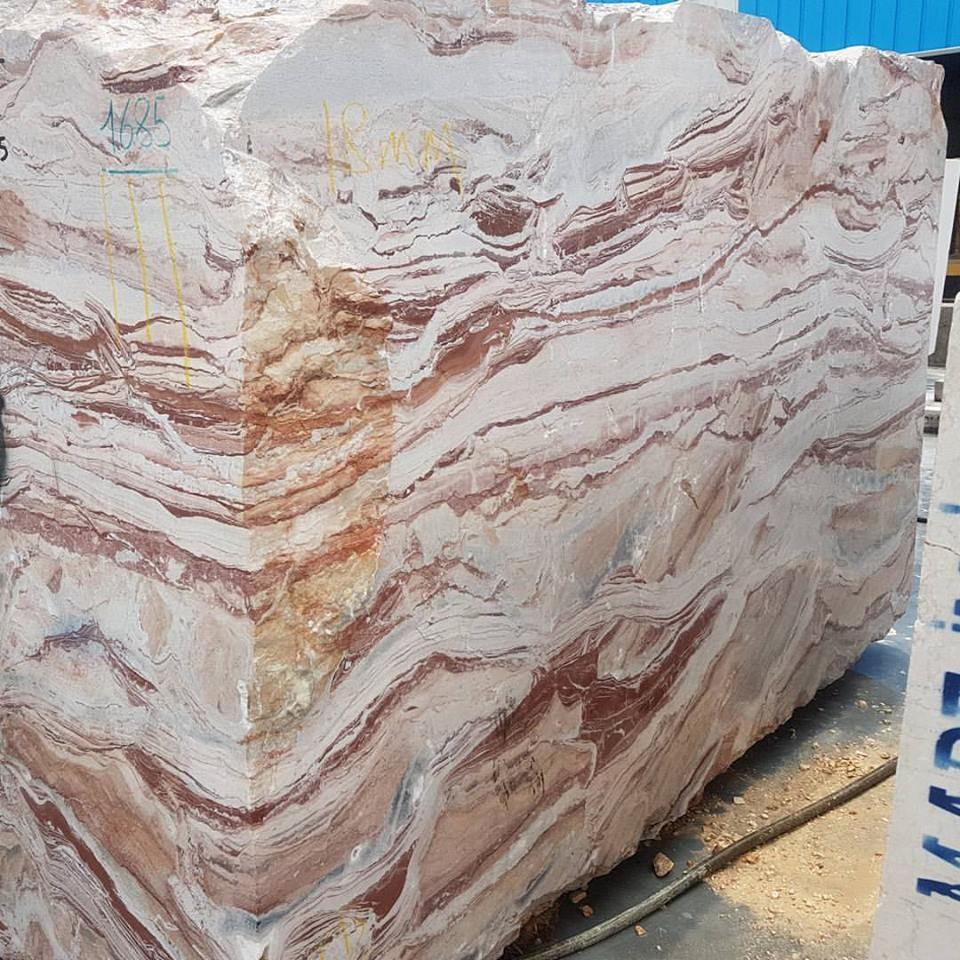 Red Arabico Marble Blocks Natural Marble Blocks