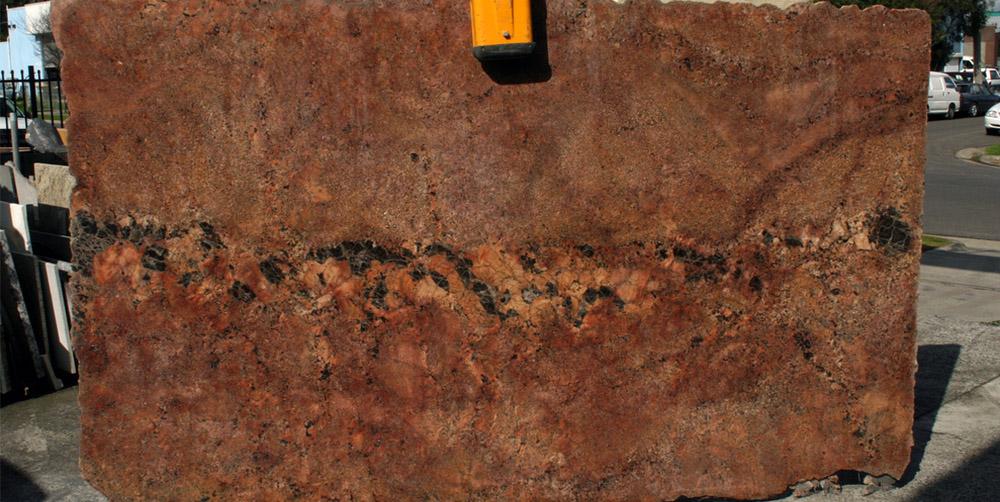 Red Bordeaux Granite Slab for Kitchen Countertops