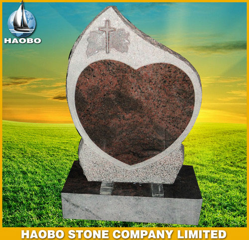 Red Granite Headstones Norwegian Style HBMNO005