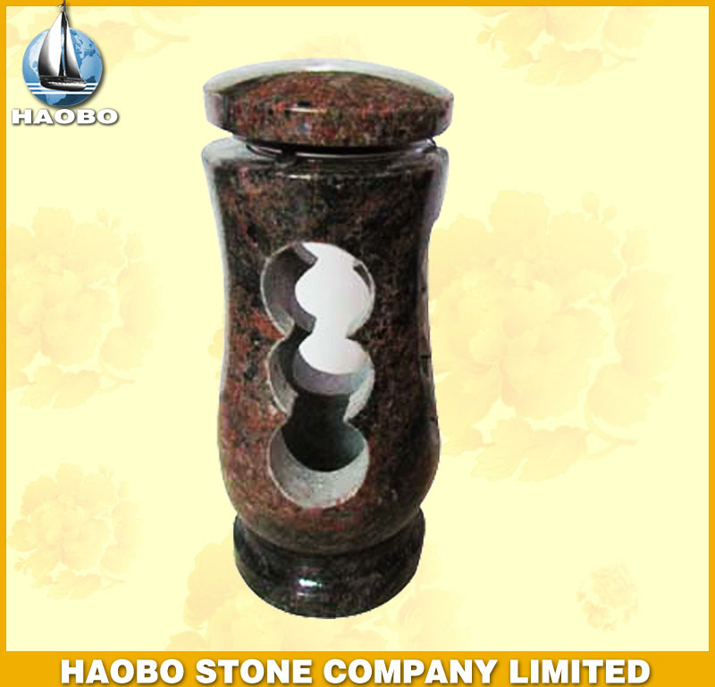 Red Granite Lamp for Gravestone HBL001