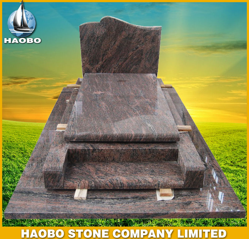 Red Granite Tombstone French Style HBMFR008