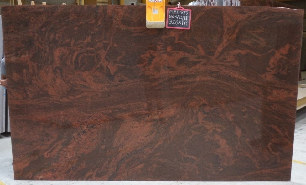 Red Multi Color Granite Slabs Polished Indian Red Granite Slabs