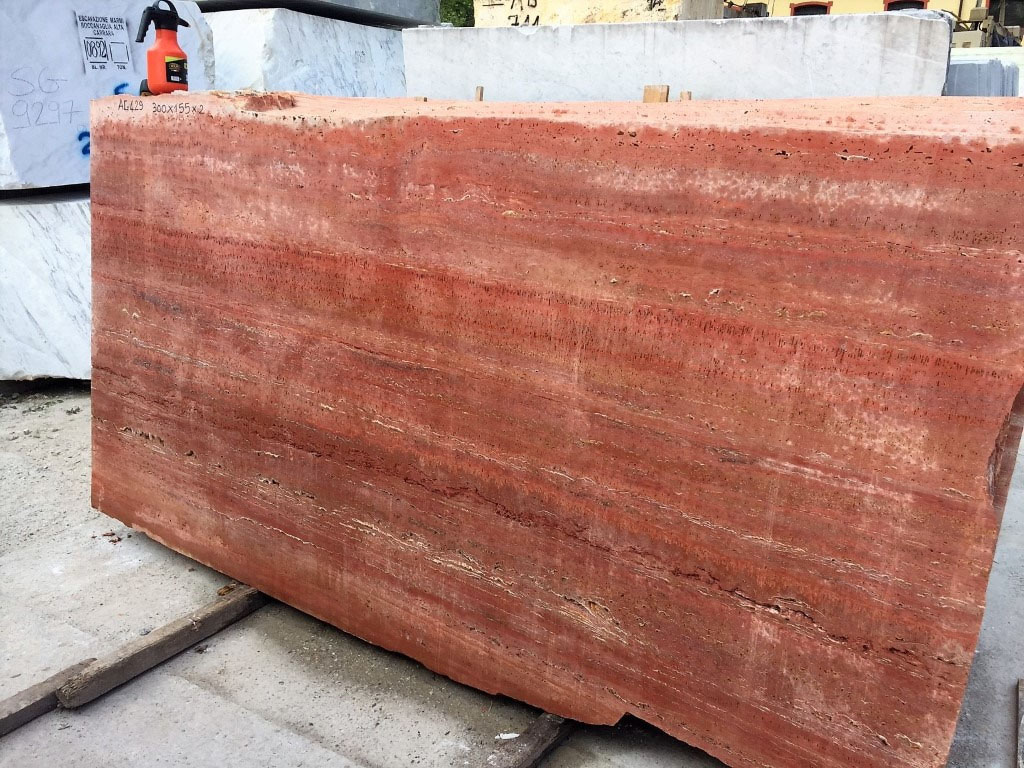 Red Travertine Affordable Travertine Stone Slabs