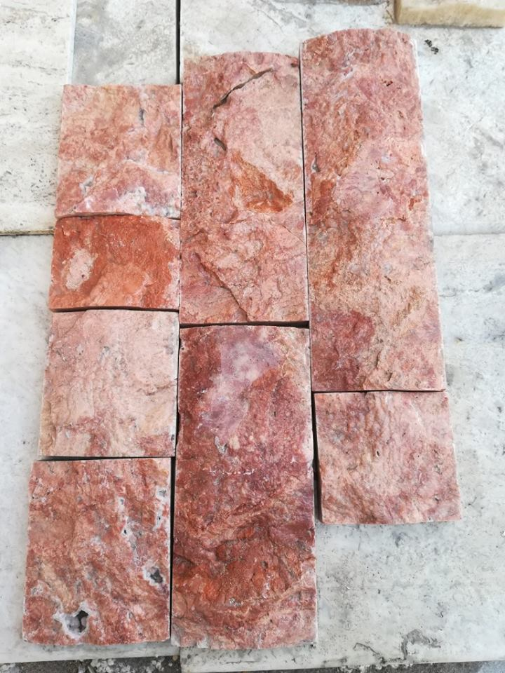 Red Travertine Natural Wall Stone Cultural Stone