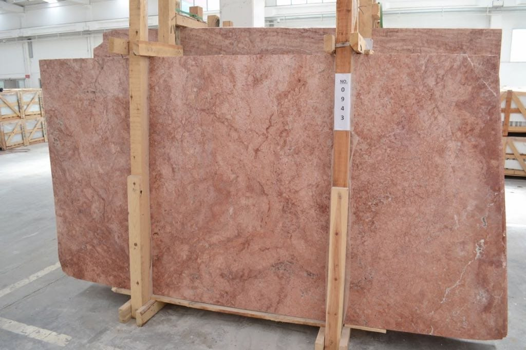 Red Travertine Slabs from Turkey