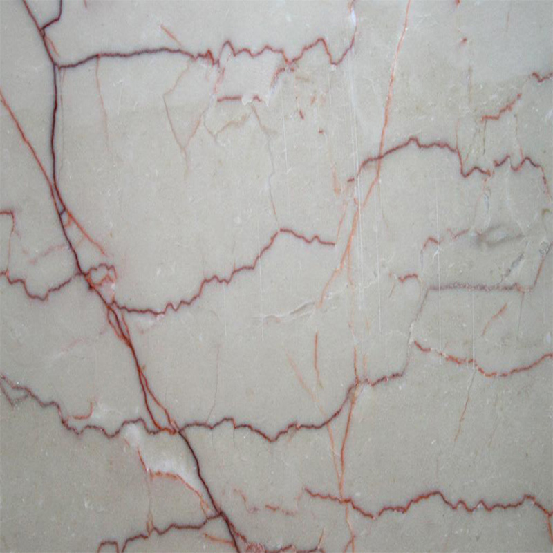 Red Vein Beige Marble