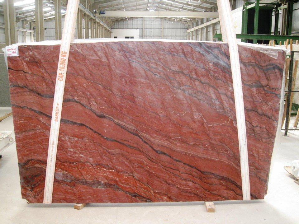 Revolution Red Quartzite Slabs Polished Red Quartzite Slabs