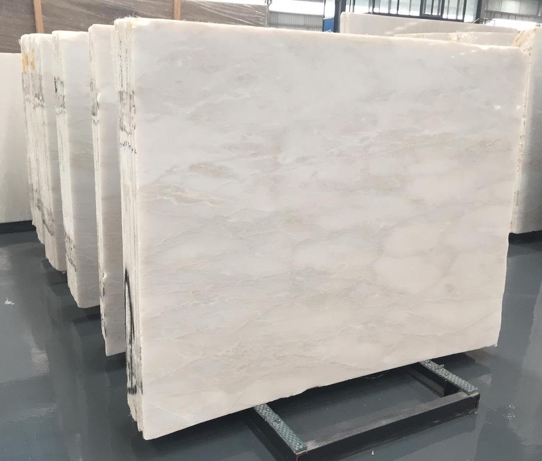 Rhinoceros White Marble Slabs Polished White Marble Stone Slabs