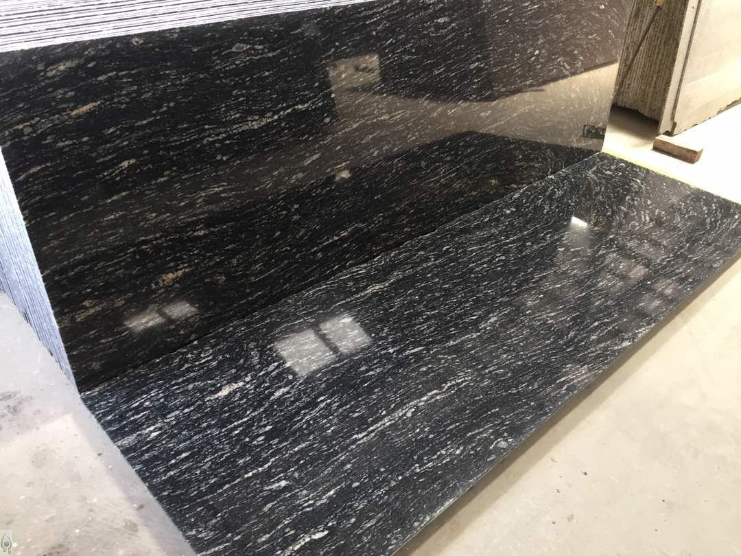 River Black Granite Polished Granite Slabs