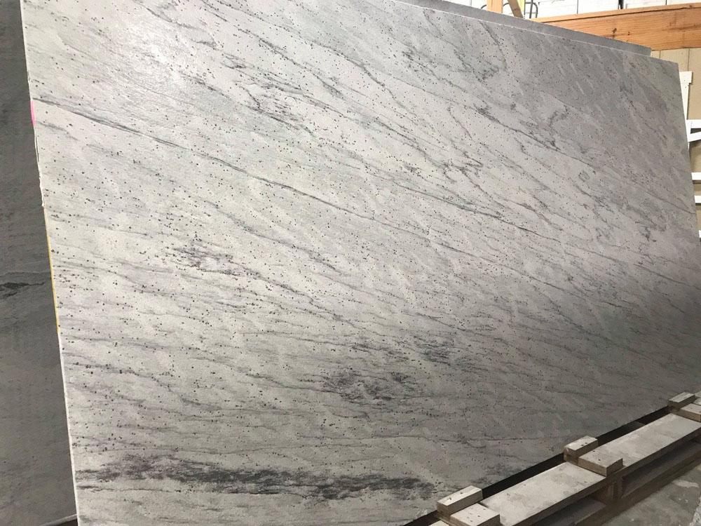 River White Leathered Granite Slabs