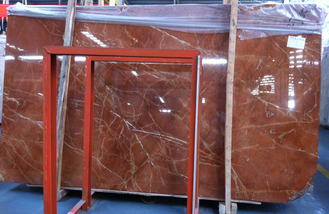 Rojo Alicante Slabs Polished Red Marble Stone Slabs