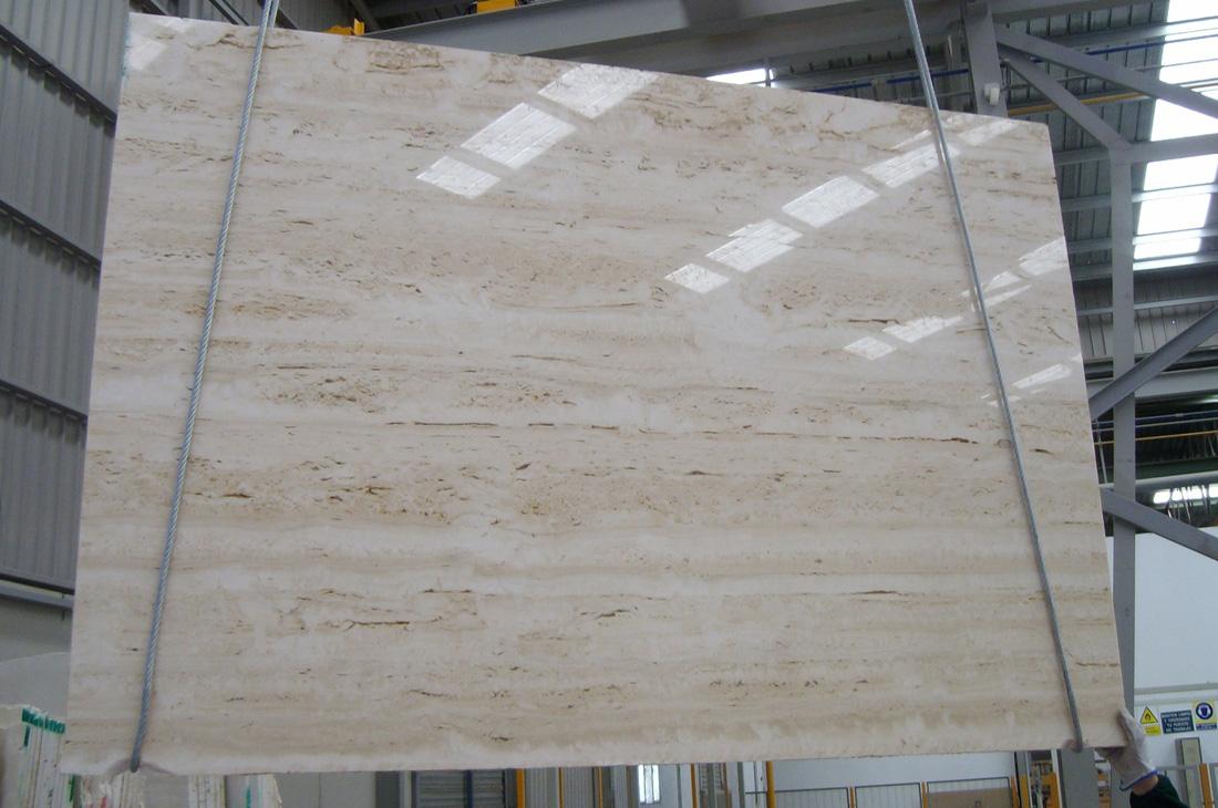 Roma Classico Beige Travertine Slabs Polished Travertine Stone Slabs