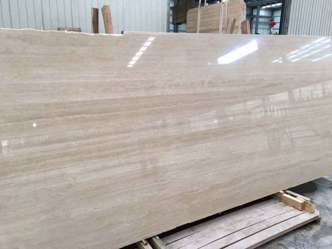 Roman Beige Travertine Slabs Polished Slabs with High Quality