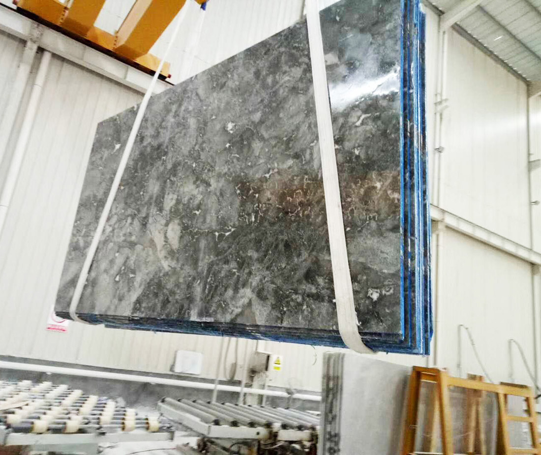 Romantic Gray Polished Grey Marble Slabs