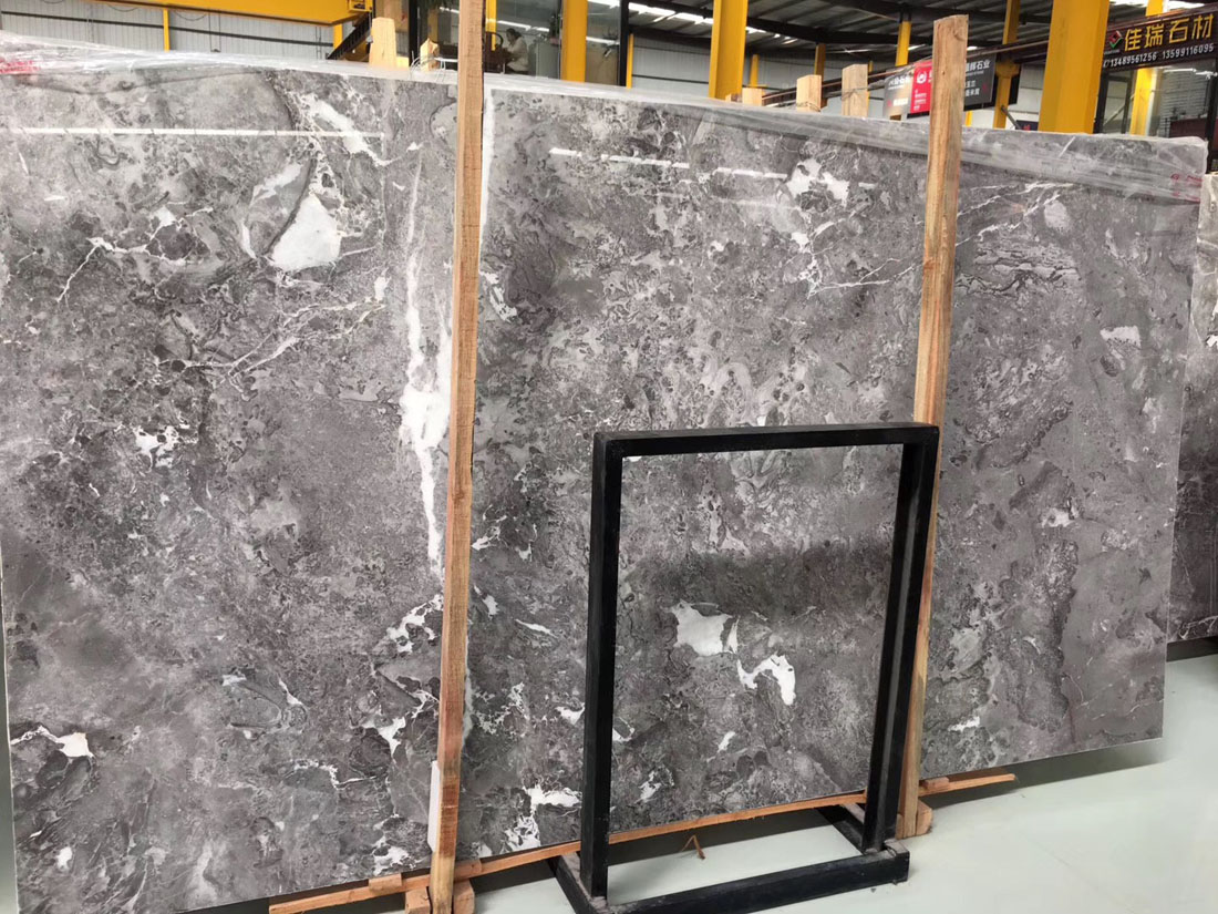 Romantic Grey Marble Slabs Polished Marble Slabs