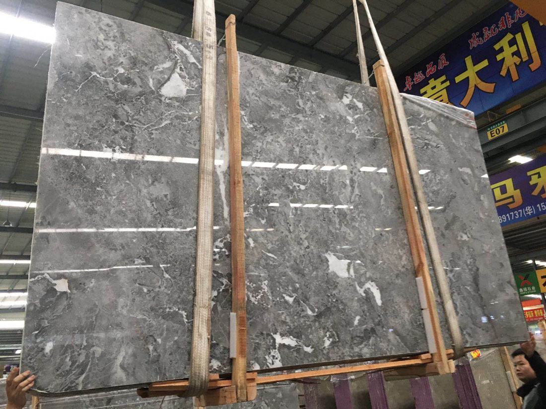 Romantic Grey Marble Slabs Polished Slabs