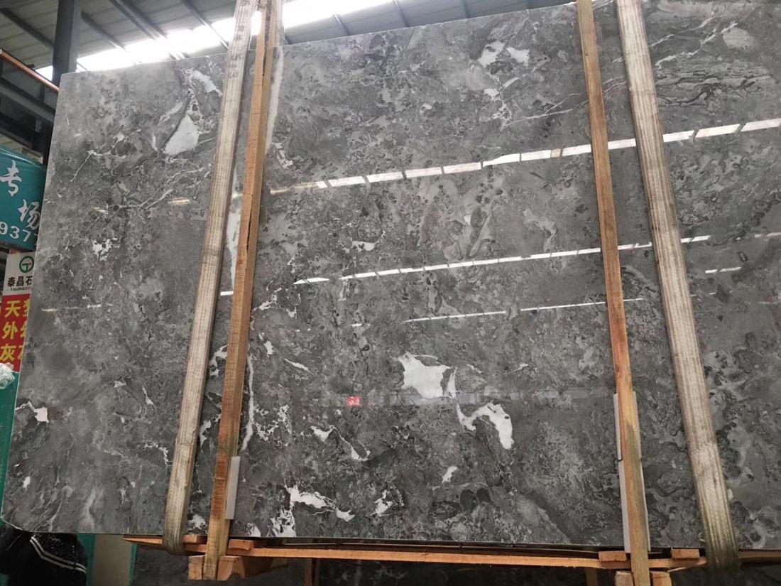 Romantic Grey Slabs Polished Grey Marble Slabs