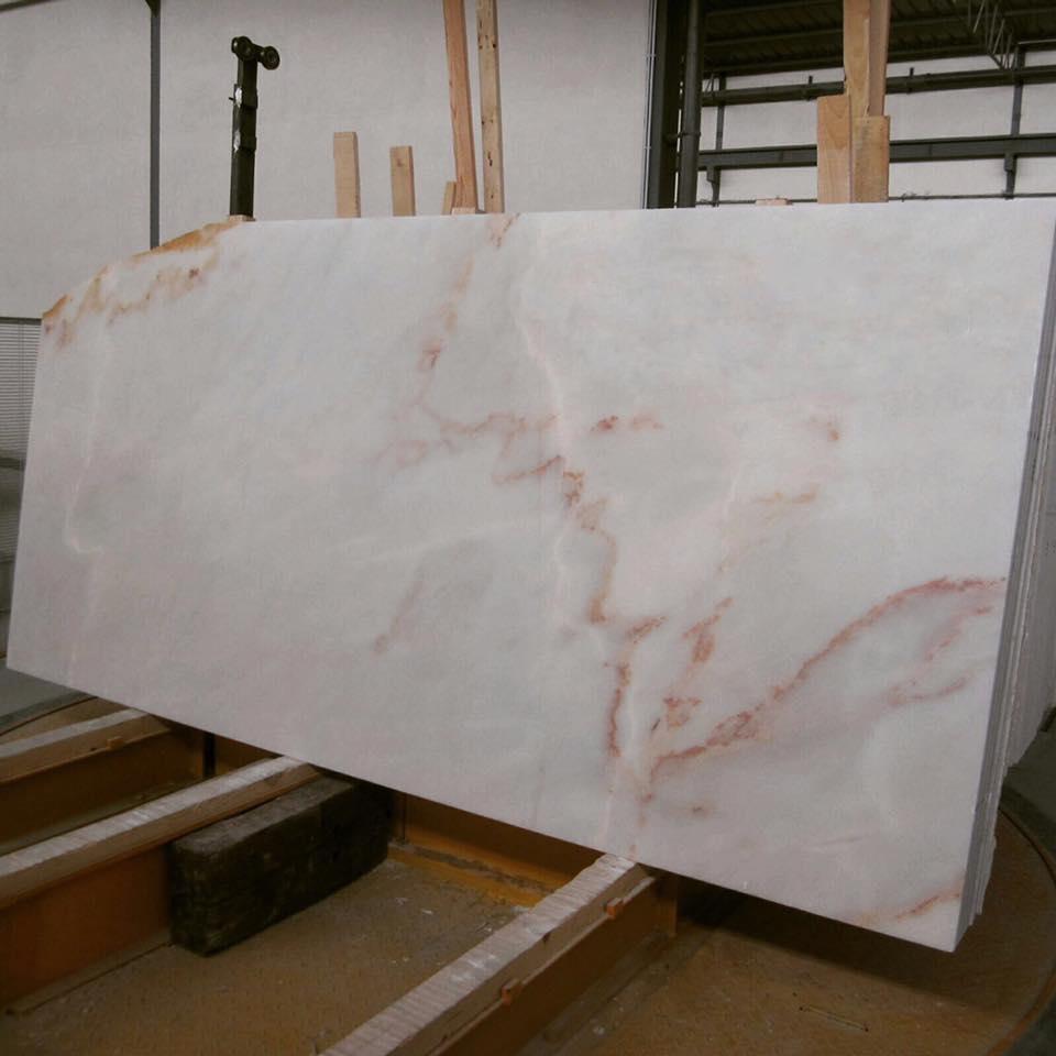 Rosa Aurora Slabs Polished White Marble Slabs