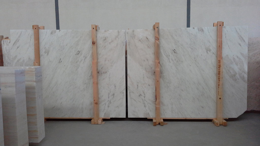 Rosa Bianca Marble Slabs White Marble Slabs from Portugal
