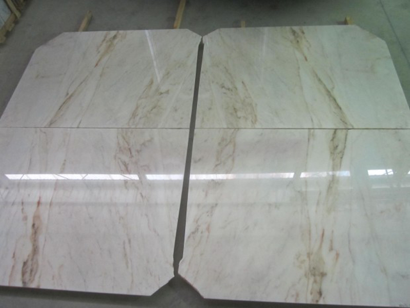 Rosa Estremoz Marble Tiles White Polished Marble Tiles
