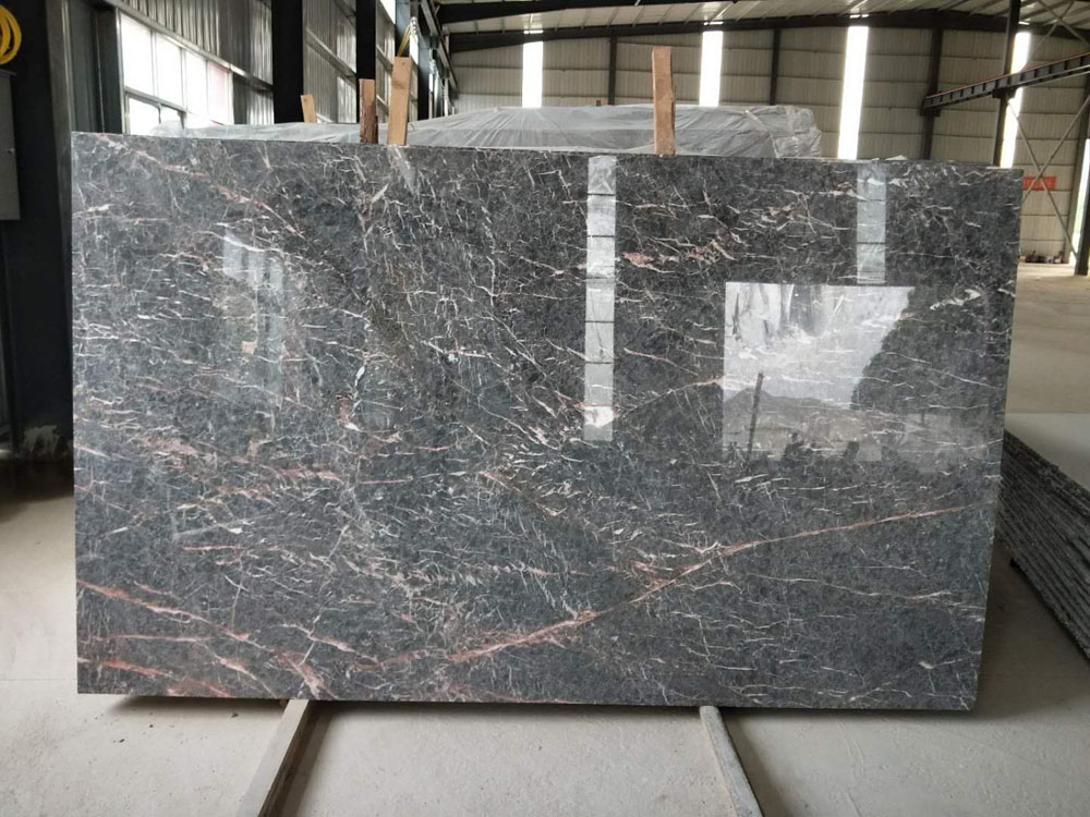 Rosa Silk Grey Marble Polished Big Marble Slabs