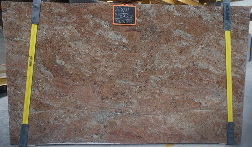 Rosewood Granite Slabs Indian Brown Granite Slabs
