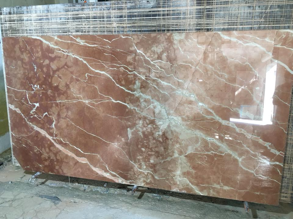 Rosso Alicante Marble Pink Polished Marble Slabs