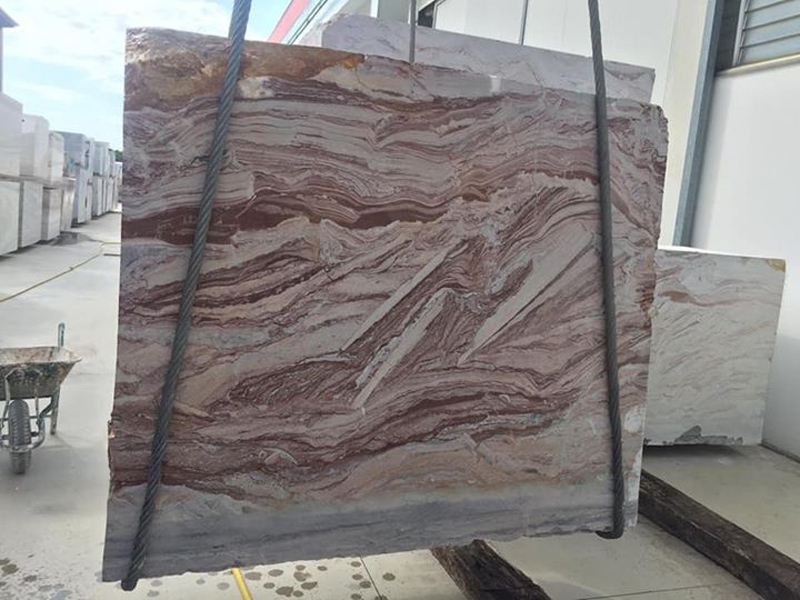 Rosso Arobico Marble Slabs Polished Pink Marble Slabs