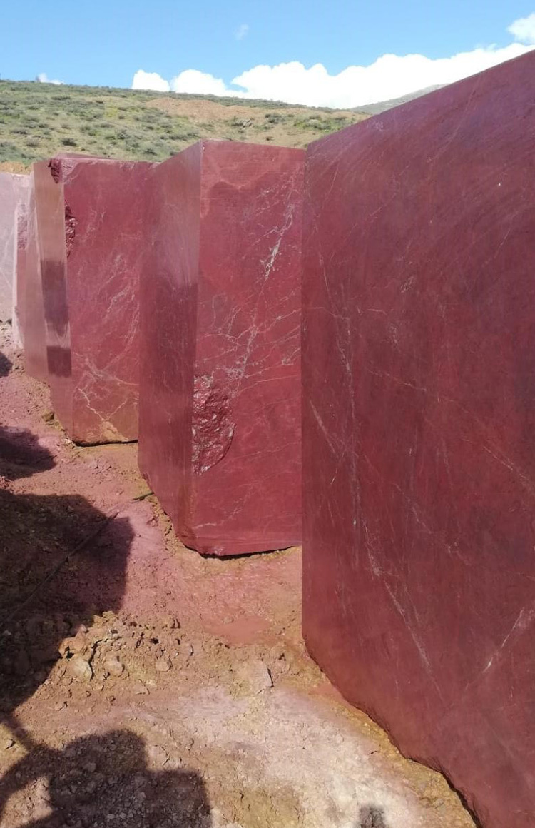 Rosso Ducale Marble Blocks Anatolian Wine Marble Natural Blocks