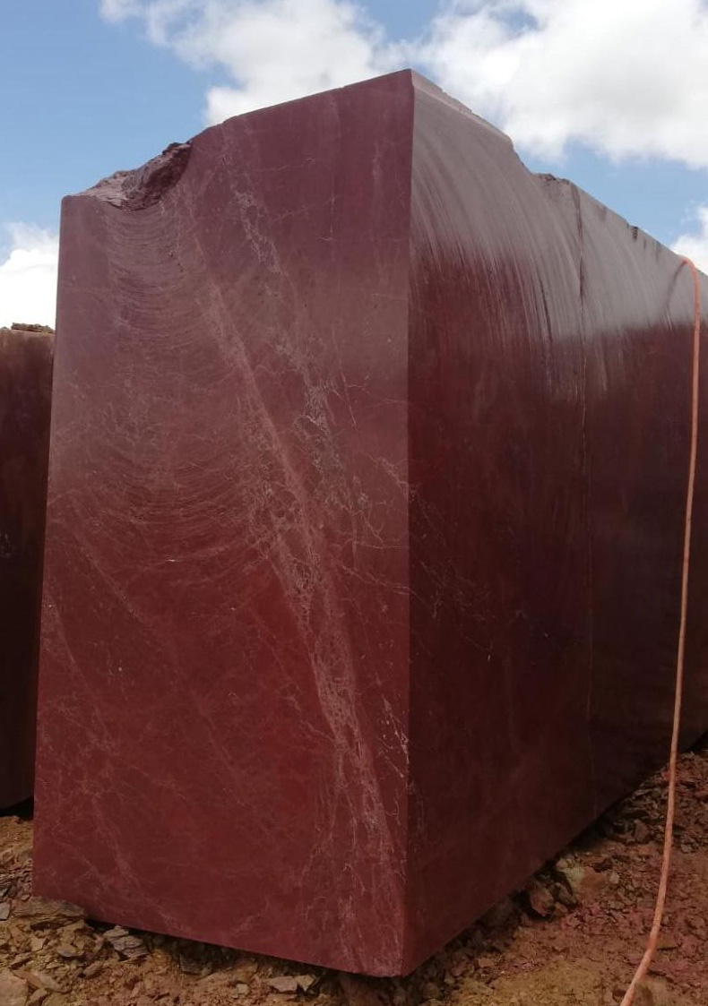 Rosso Ducale Marble Blocks Anatolian Wine Red Marble Blocks