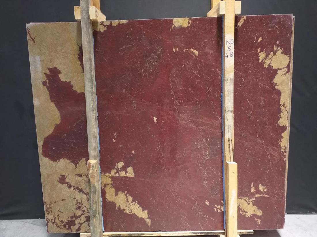Rosso Ducale Marble Slabs Turkish Polished Red Marble Slabs