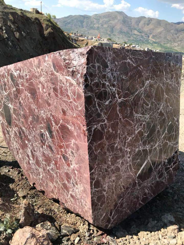 Rosso Levanto Red Marble Block