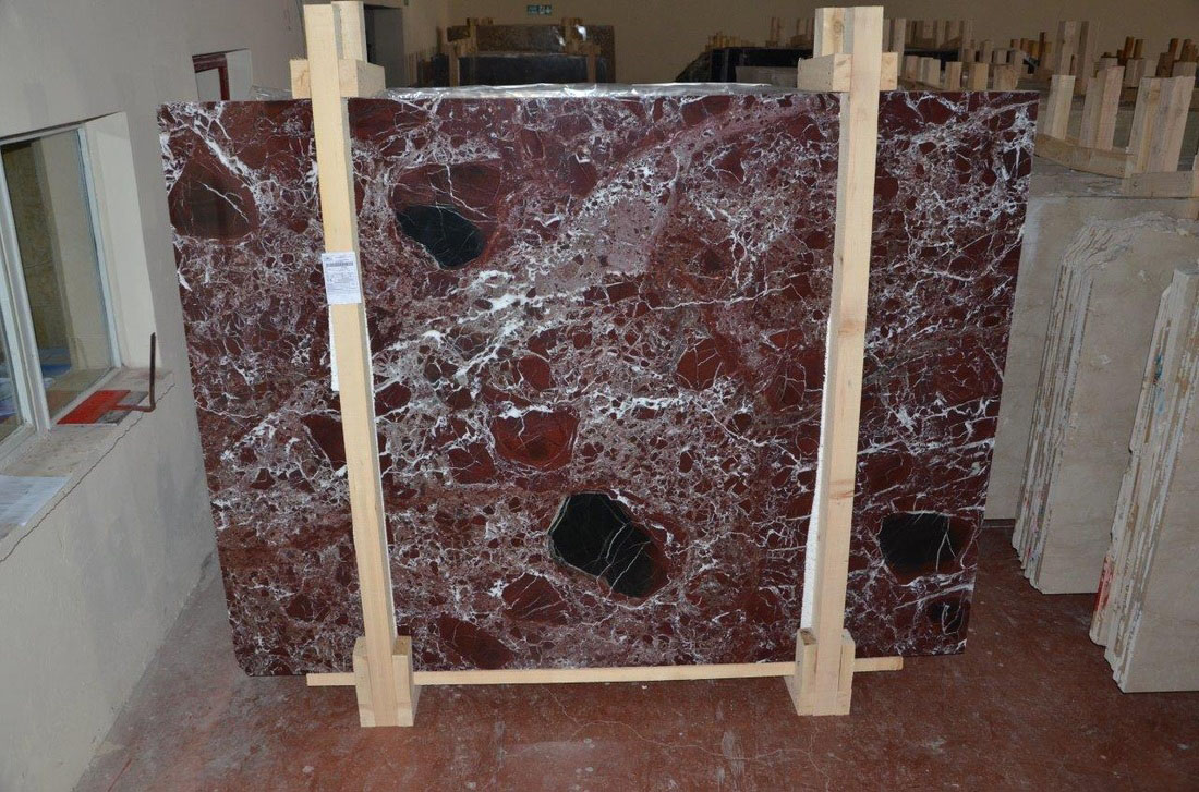 Rosso Levanto Red Marble Slabs Turkey Marble Slabs for Decoration