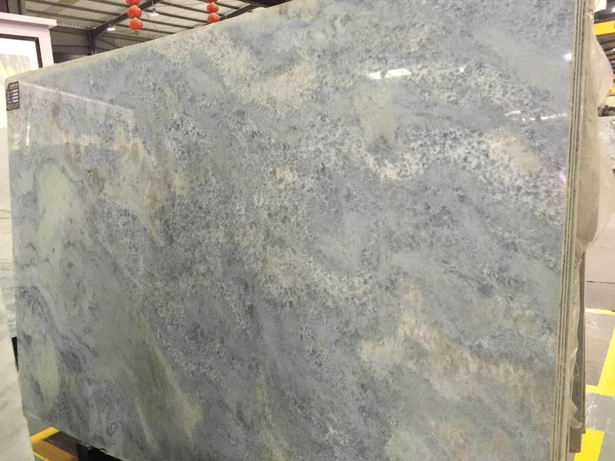 Royal Crystal Sky Blue Marble Slabs Good Quality Azul Marble Tiles