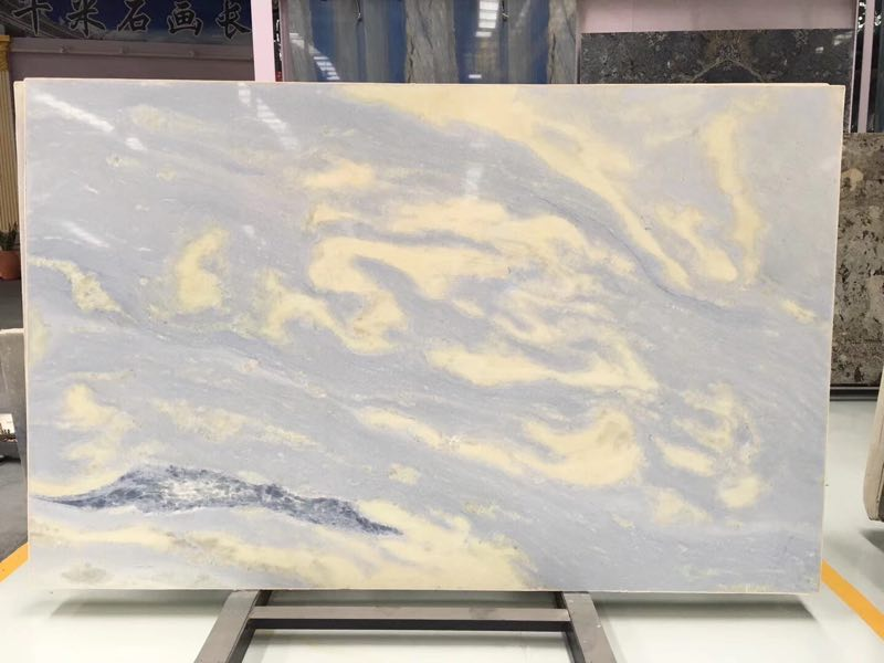 Royal Crystal Sky Blue Marble Slabs for Kitchen Countertops