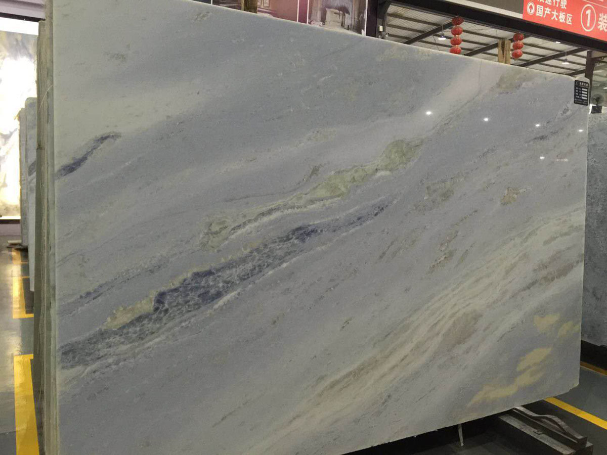 Royal Crystal Sky Blue Marble Slabs from China