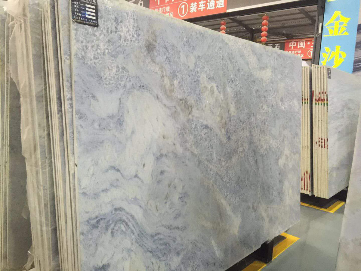Royal Crystal Sky Blue Marble Slabs from Chinese Supplier