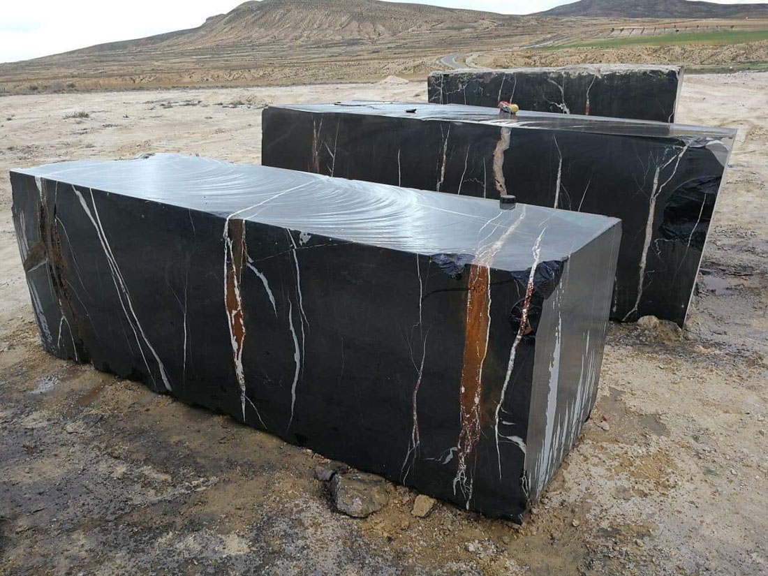 Royal Nero Marquina Blocks Natural Marble Blocks