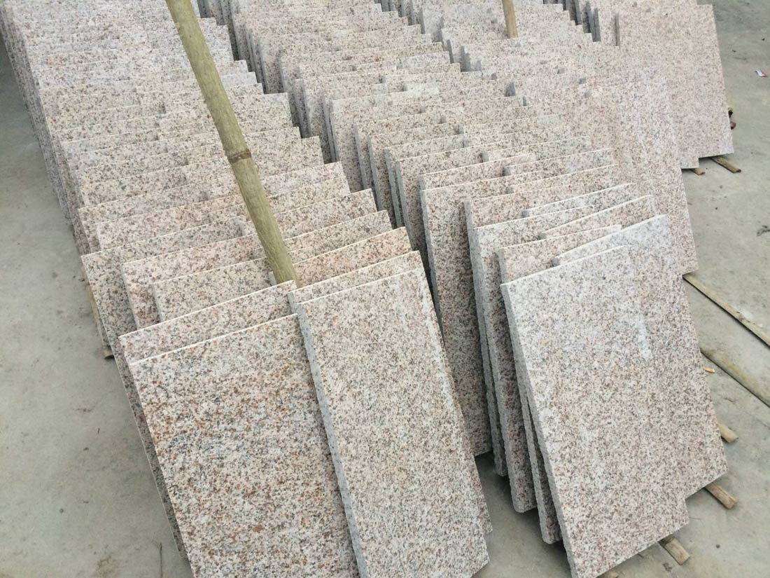 Rustic Yellow Granite Flamed Tiles from Chinese Supplier