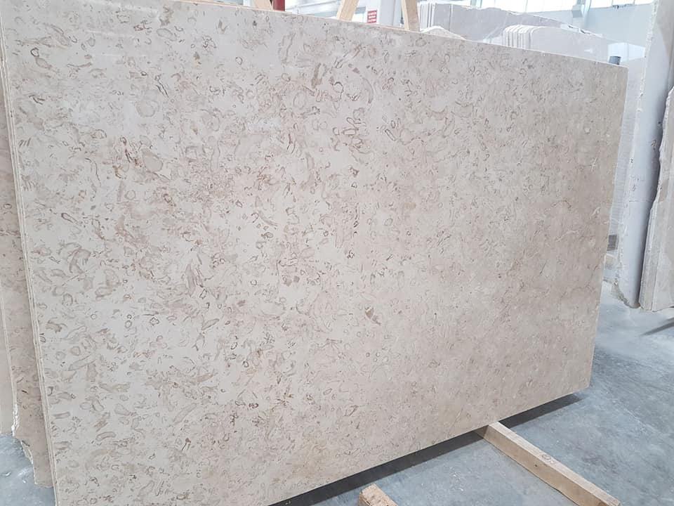SD Antalya Fossil Beige Marble Slabs