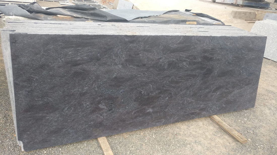 SK Blue Indian Granite Polished for Kitchen Countertops