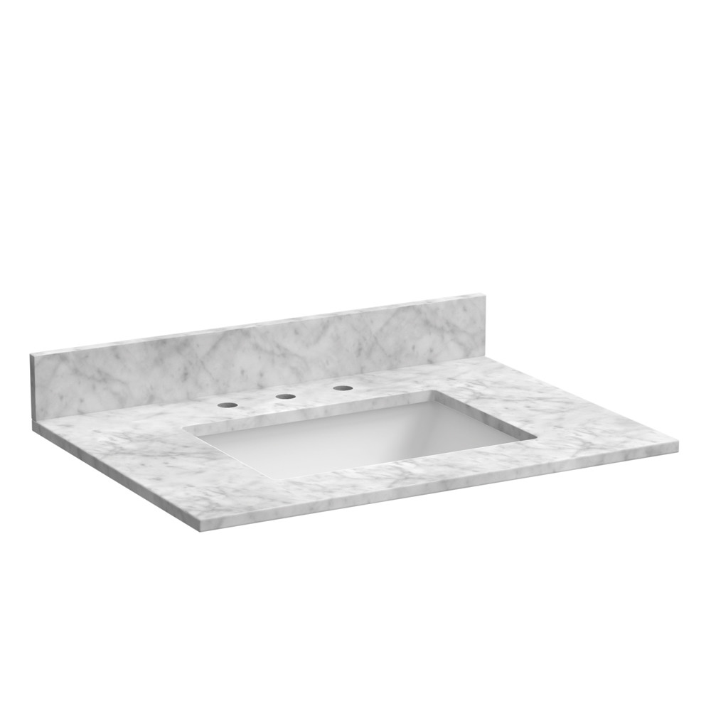 Carrara White Bathroom Vanity Top
