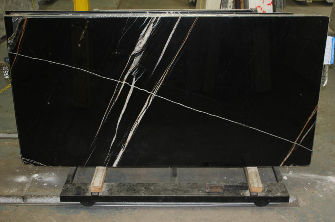 Sahara Noir Slabs Polished Black Marble Slabs
