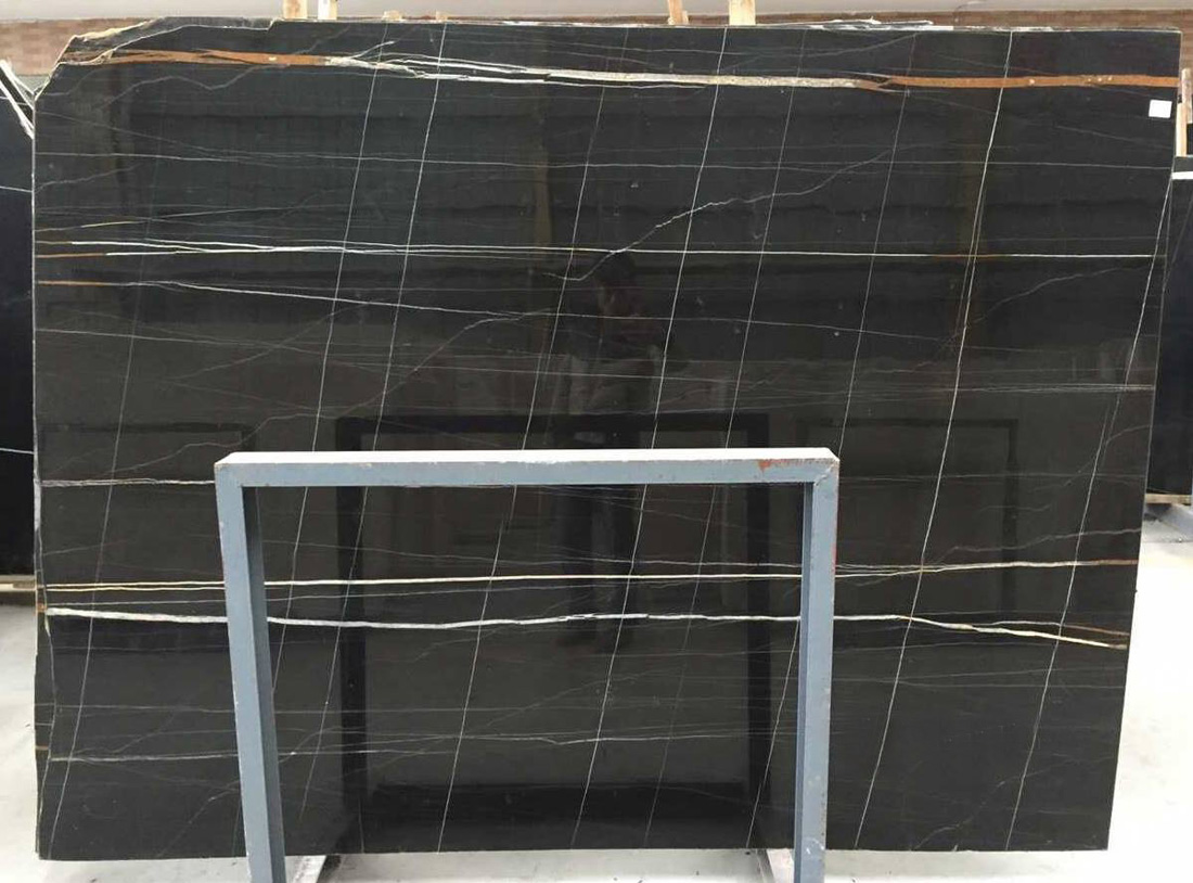Saint Laurent Stone Slab Black Polished Marble Slabs