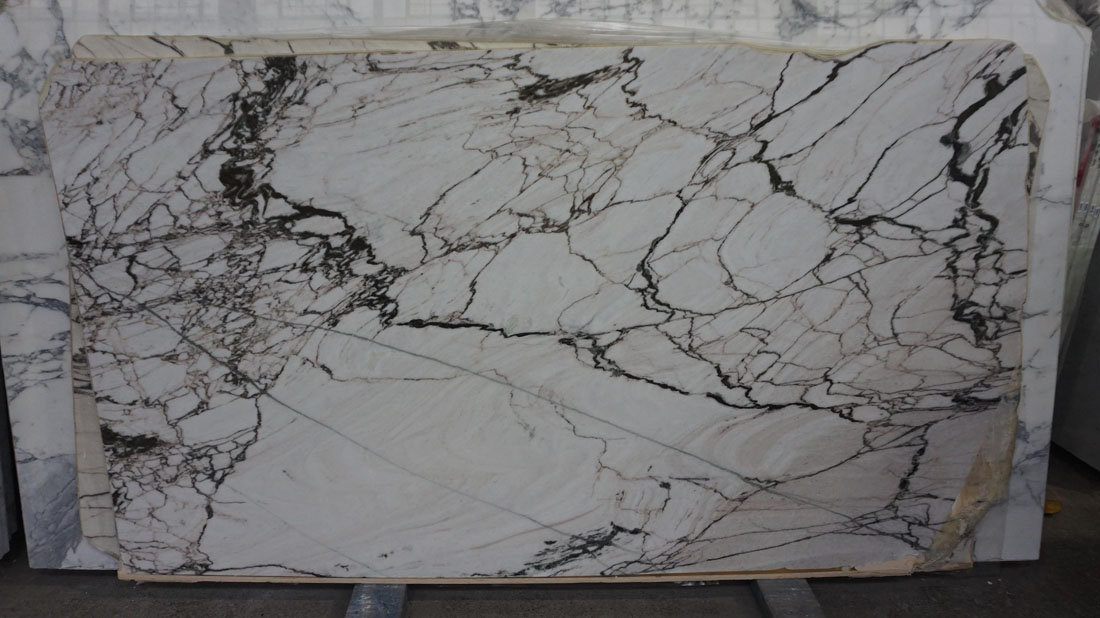 San Simone 20mm Polished White Marble Slabs