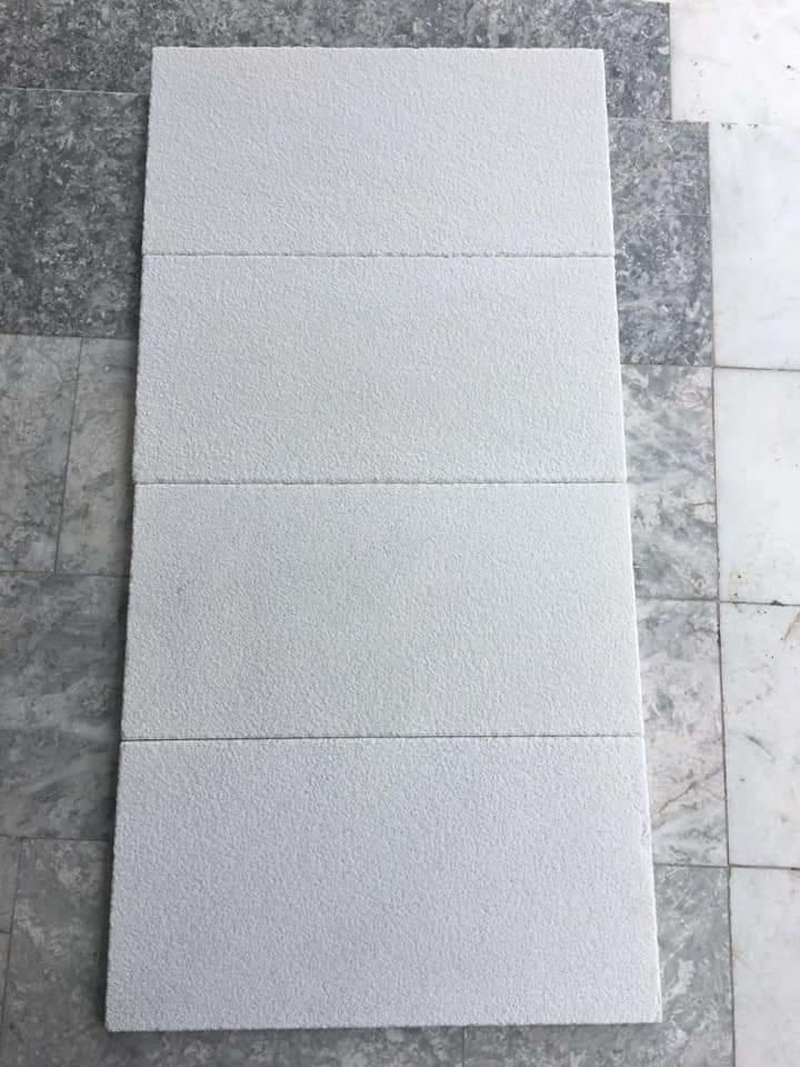 Sandblassed Mugla White Marble Tiles for Flooring
