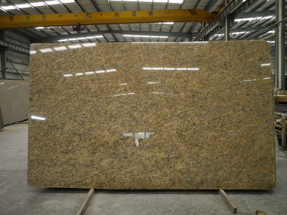 Santa Cecilia Gold Granite Yellow Polished Granite Slabs
