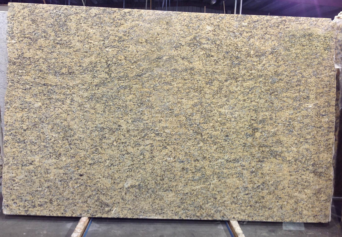 Santa Cecilia Golden Extra Granite Slabs Polished Yellow Granite Slabs